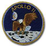 "NASA Apollo 11 Embroidered  4"" Mission Patch"