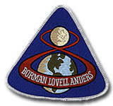 "NASA Apollo 8 Patch 4"" Embroidered Mission Patch"
