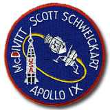 "NASA Apollo 9 Embroidered 4"" Mission Patch"