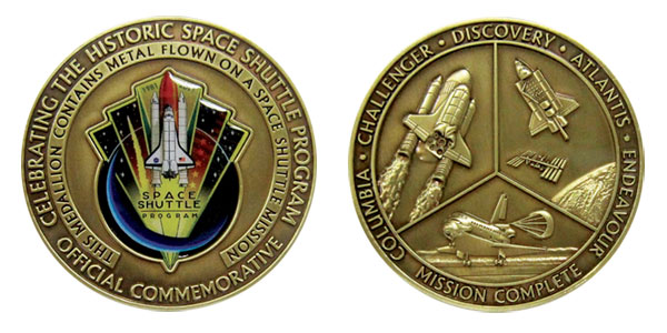NASA s Shuttle Program Mission Complete Medallion with ...