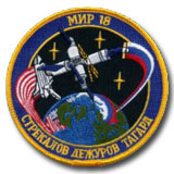 Soyuz TM-21 (MIR 18) Primary Crew Patch