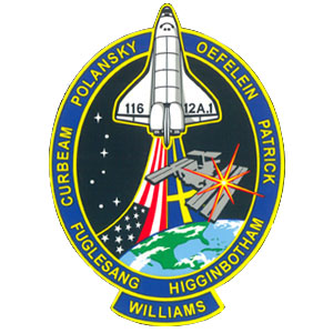 STS-116 Mission Decal
