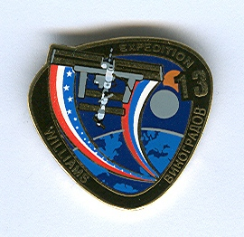 Expedition 13 ISS International Space Station Mission Lapel Pin Official NASA