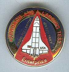 NASA Space Shuttle Approach and Landing Tests (ALT) Lapel Pin