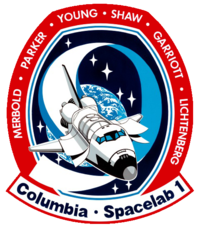 NASA Space Shuttle Columbia Mission STS-9 Decal