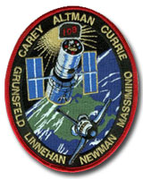 NASA STS-109 Columbia Mission Patch