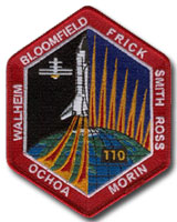 NASA STS-110 Atlantis Mission Patch