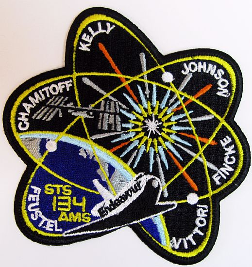 Mission Patches On Mission 4 To The International Space: NASA STS-134 Endeavour Embroidered Mission Patch