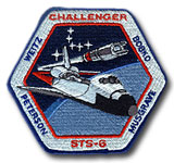 NASA STS-6 Challenger Embroidered Space Shuttle Mission Patch