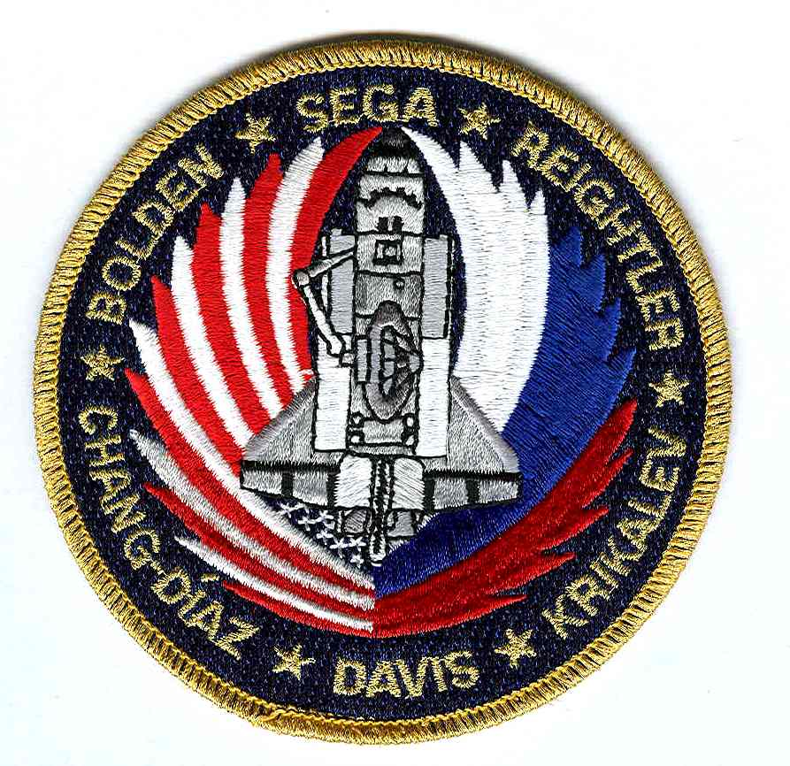 Mission Patches On Mission 4 To The International Space: NASA STS-60 Discovery Mission Patch