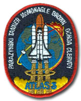 NASA STS-66 Atlantis Mission Patch