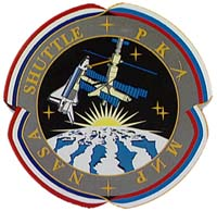 Shuttle MIR Program Lapel Pin