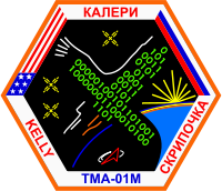Soyuz TMA-01M Embroidered Mission Patch