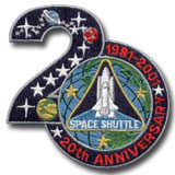 STS-1 Columbia Commemorative (20 Years) Patch